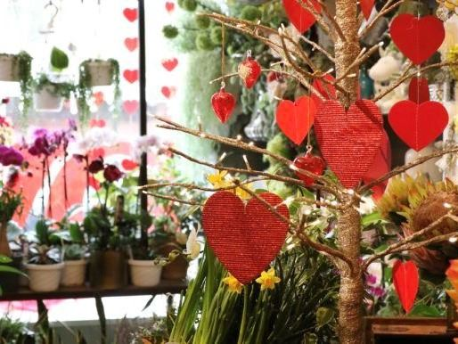 Flowers and Valentine Decorations