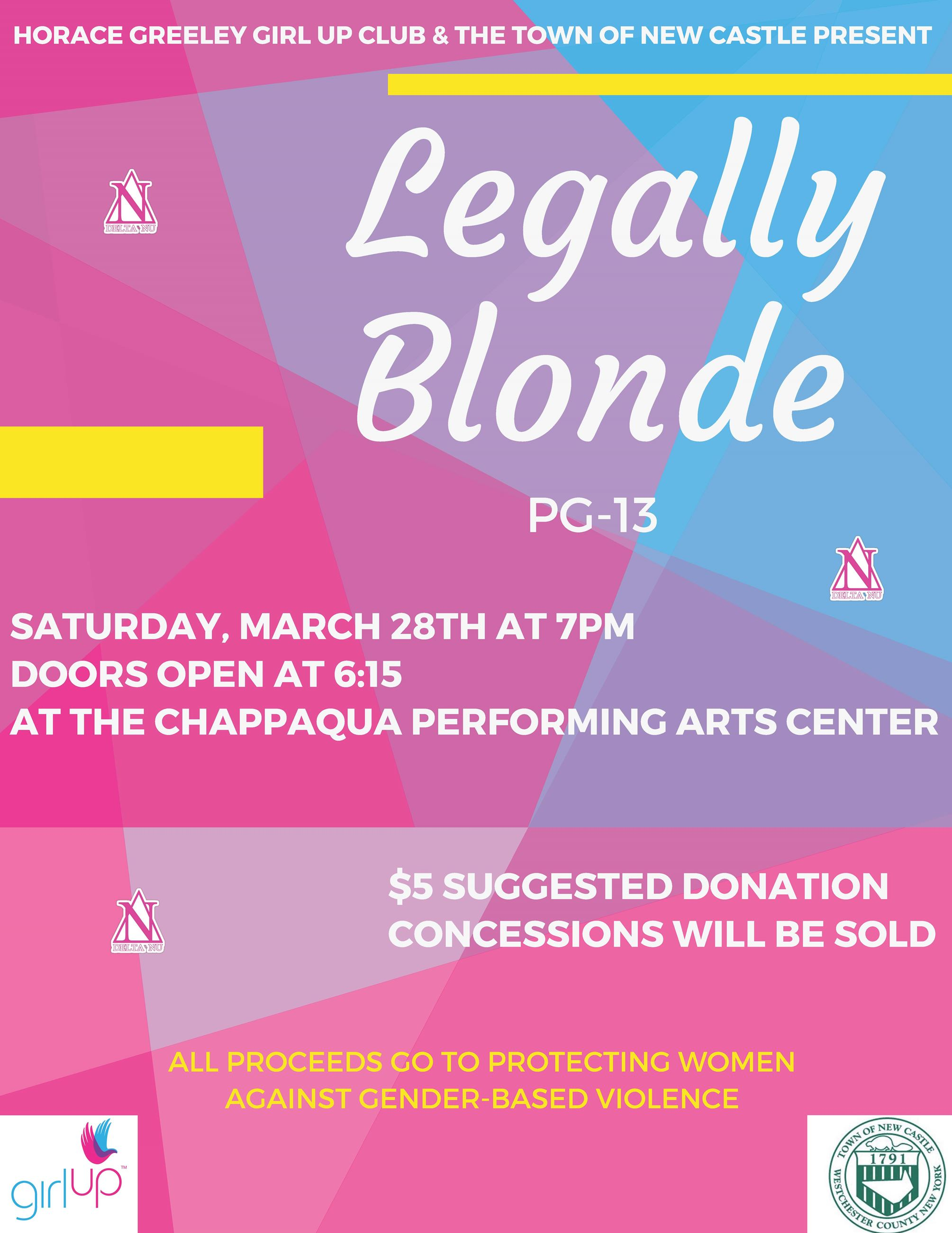 Legally Blonde Screening Flyer March 28