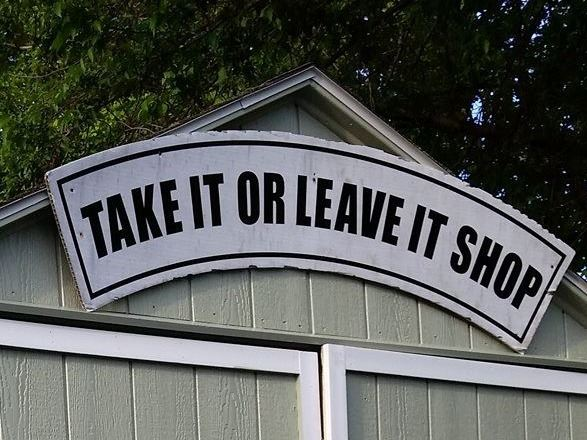 Take it or leave it shed