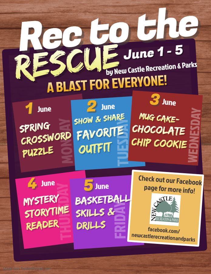 Rec to the Rescue Week of June 1 Flyer