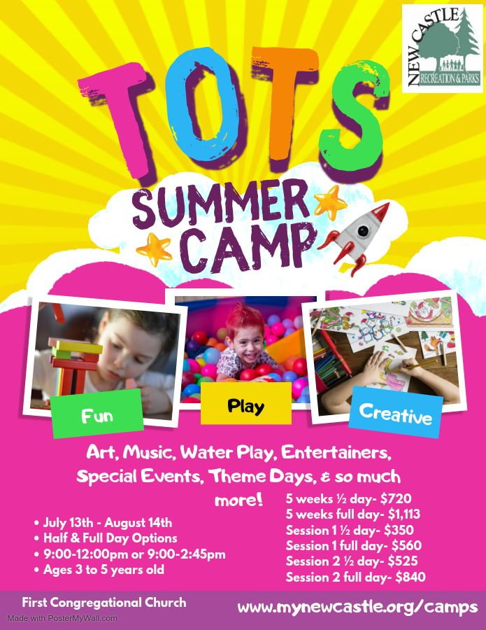 Tots Camp 2020 Update Flyer