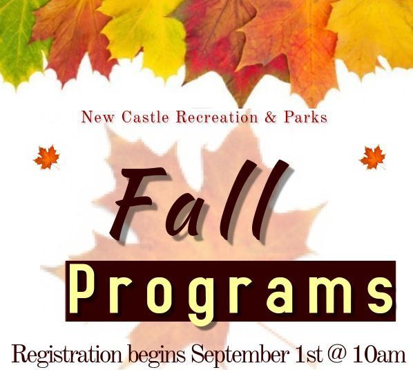 Recreation Fall Programs 2020 Flyer