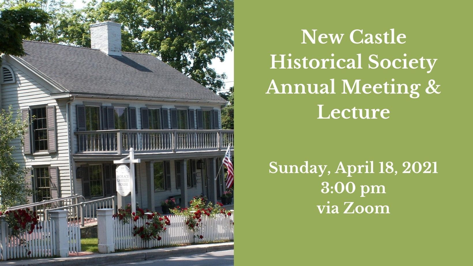 Historical Society Annual Meeting 2021