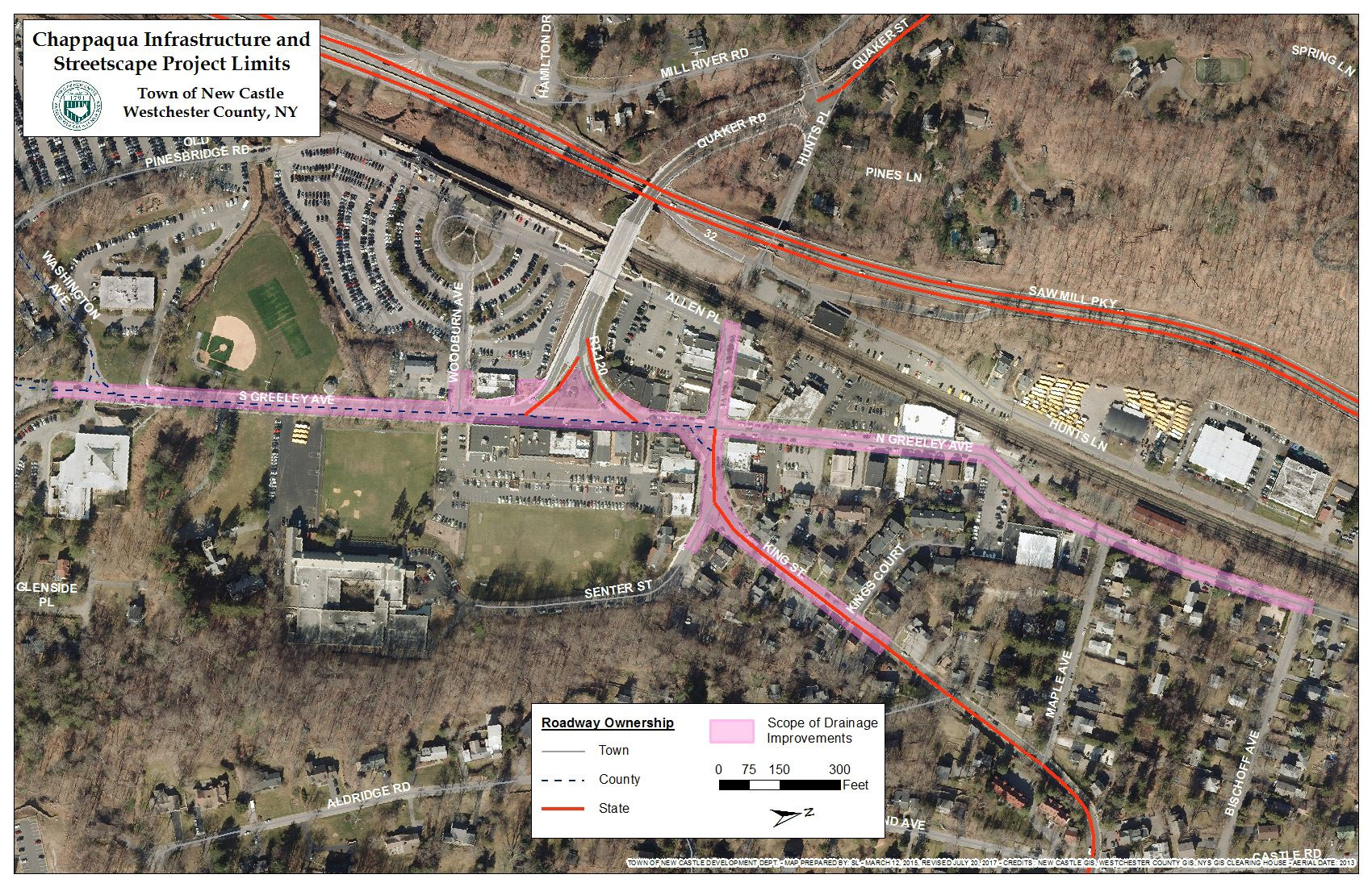 Chappaqua Infrastructure and Streetscape Project Limits (JPG)